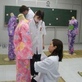 宇和島美容学校:着付け授業
