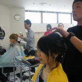 宇和島美容学校:卒業生による技術講習
