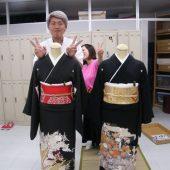 宇和島美容学校:着付けの授業