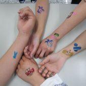 宇和島美容学校:ブログ:ボディージュエリー練習中!