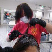 宇和島美容学校:カラーリング実習